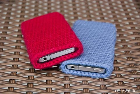 Free Crochet Pattern Easy Iphone Sleeve Roses N Lilies